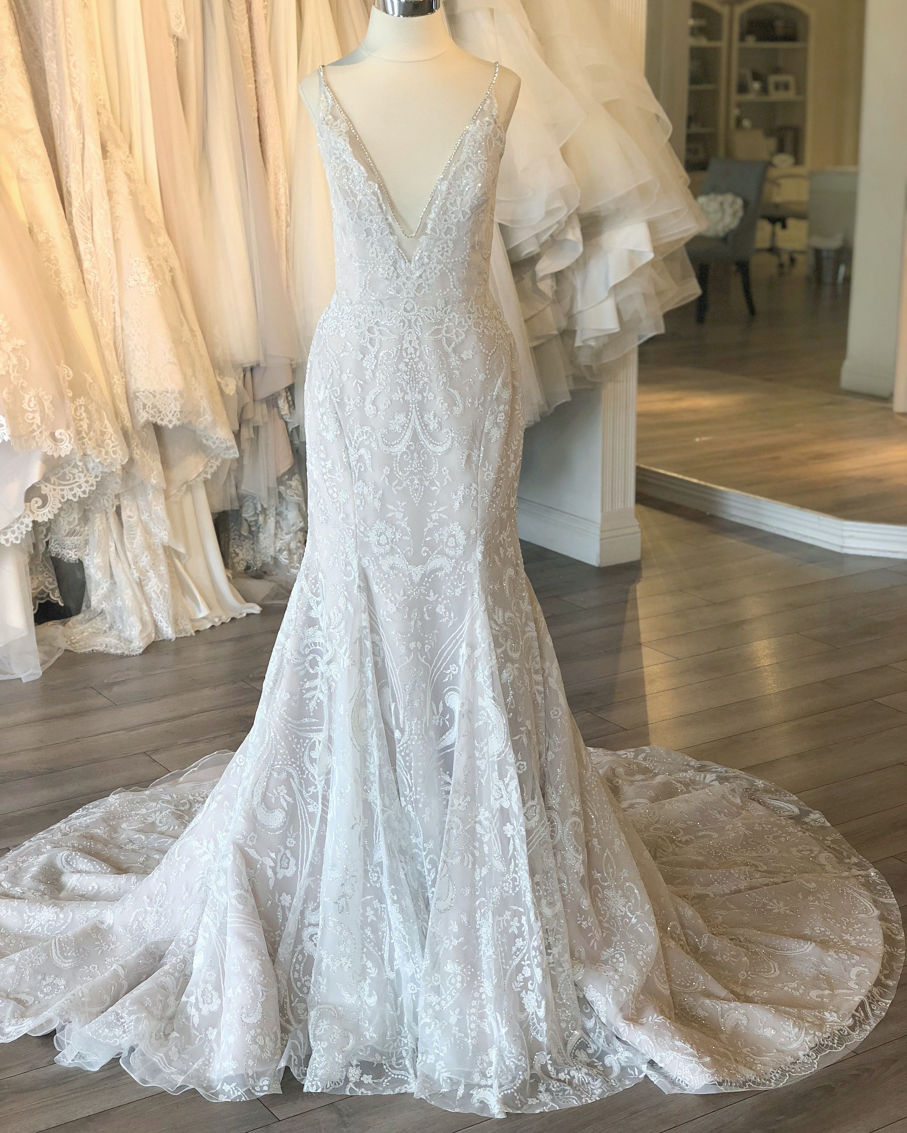 373bb055a58 Hayley Paige Haruki Wedding Gown   Fall 2018 Collection    hayleypaige fit  and flare sparkle  weddingdress at J Bridal Boutique