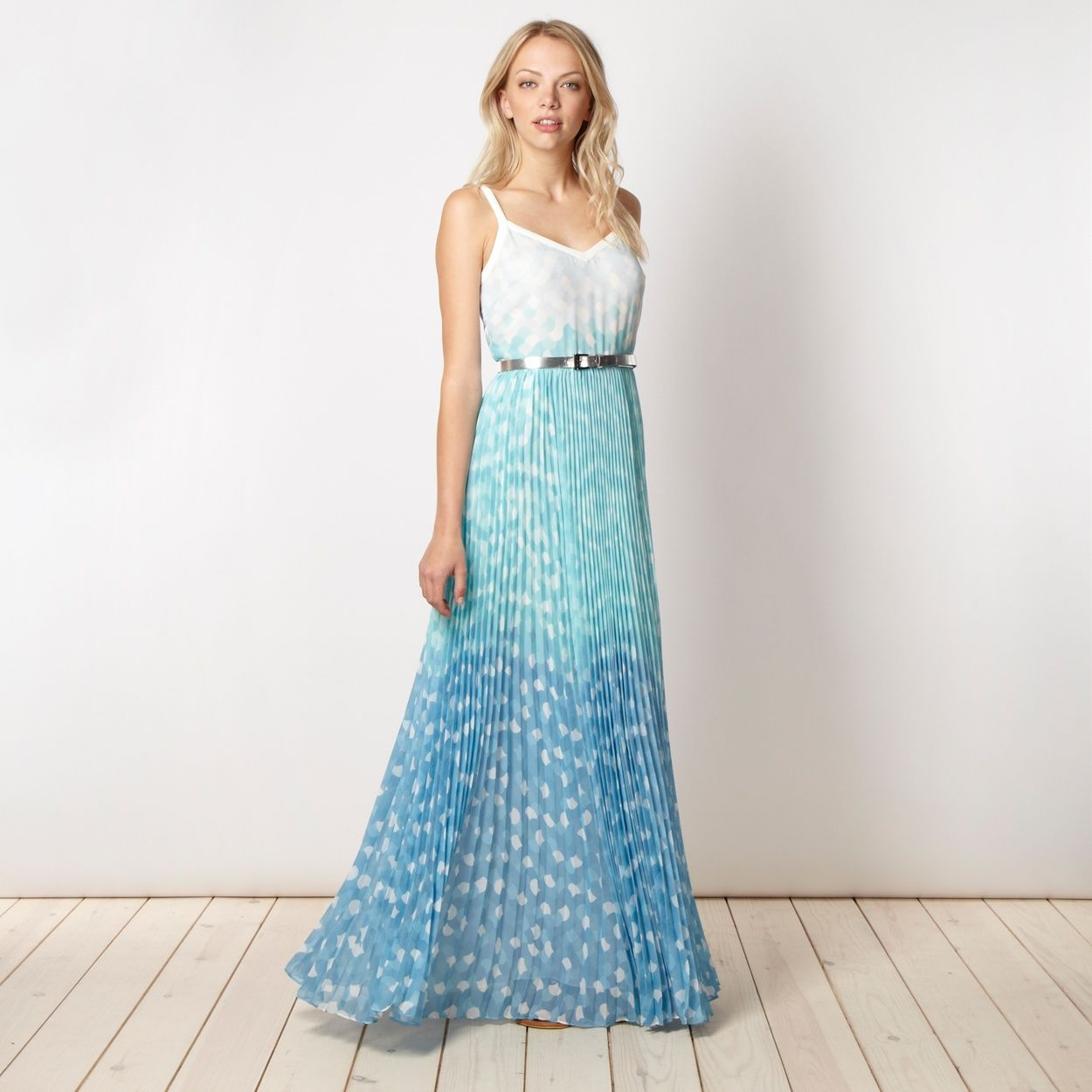 Jonathan Saunders/EDITION Designer blue ombre maxi dress- at ...