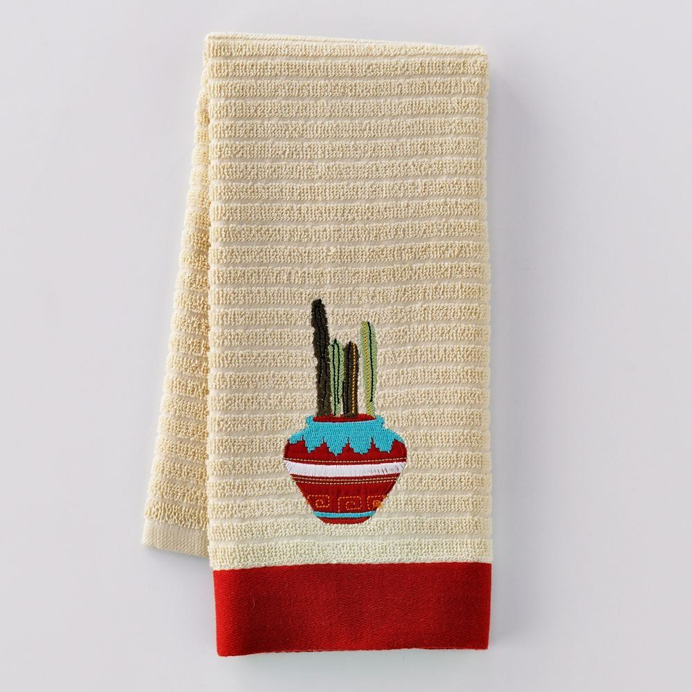 NEW Lot of 5 SONOMA Cactus Theme Kitchen Towels Kitchen Hand Towels ...