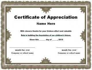 Certificate Of Appreciation Templates Free Download Download Certificate Of Appreciation 03  Free  Pinterest .