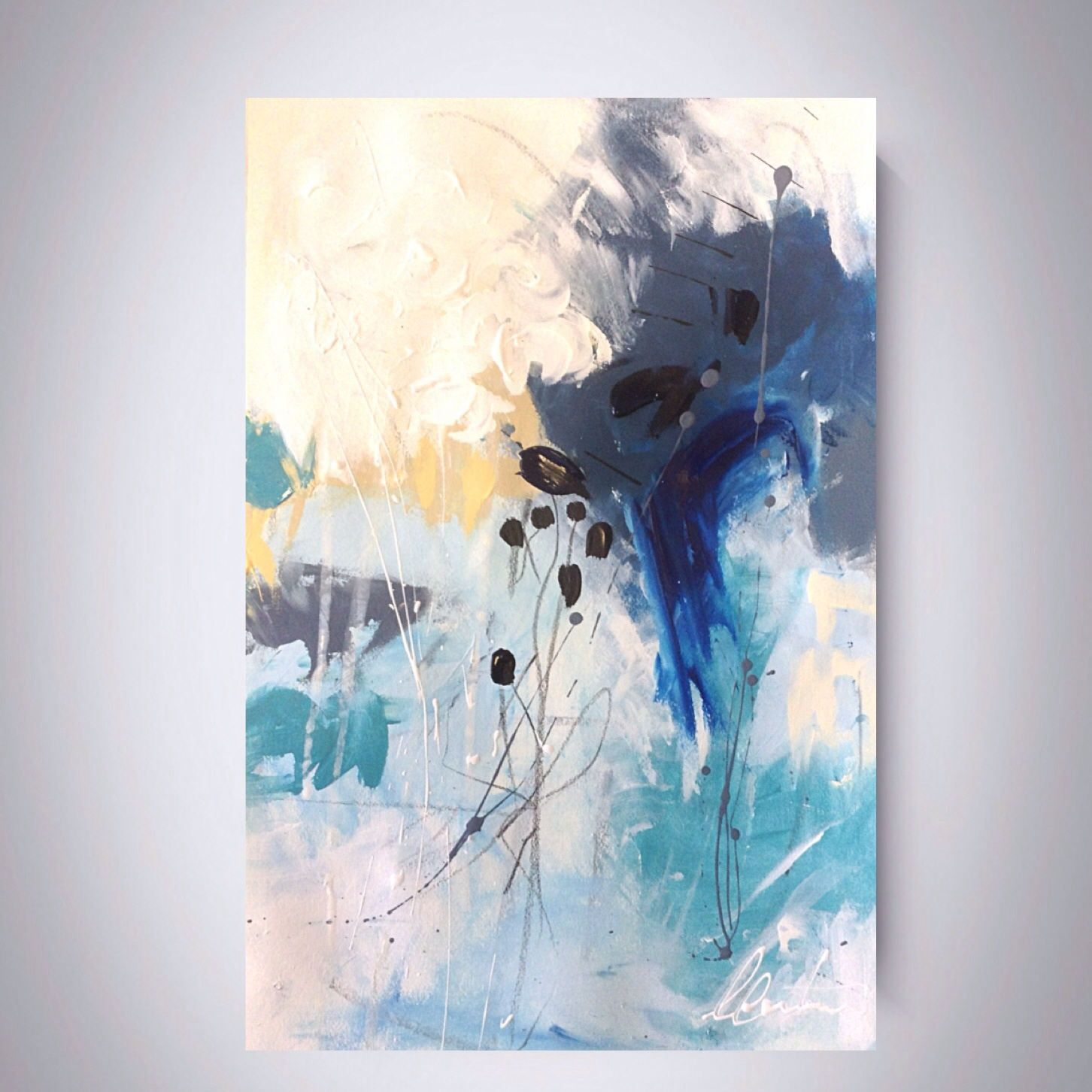 Abstract painting, original art, IKOUart, Isabelle Couture artist ...