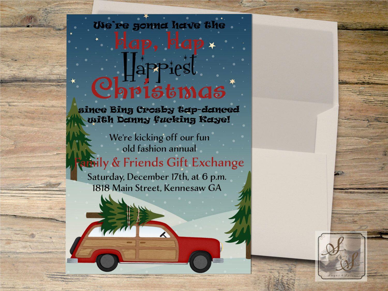Christmas Vacation Invitation, Clark Griswold Invitation ...