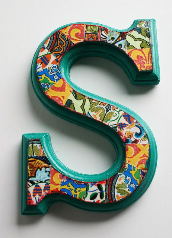 Hand Decorated Wood Letter S 6 5 Home Decor Wall