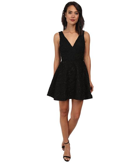 Sam Edelman Lace Plunge V Neck Dress