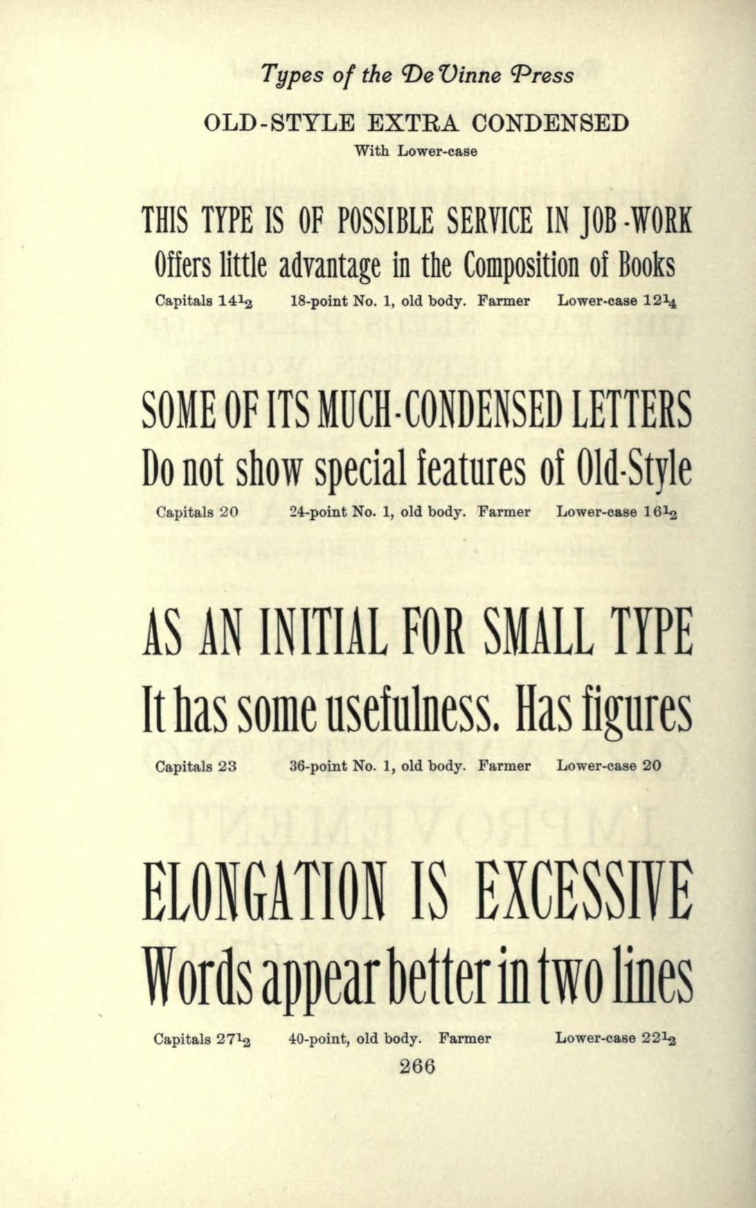 Types of the De Vinne press; specimens for the ...