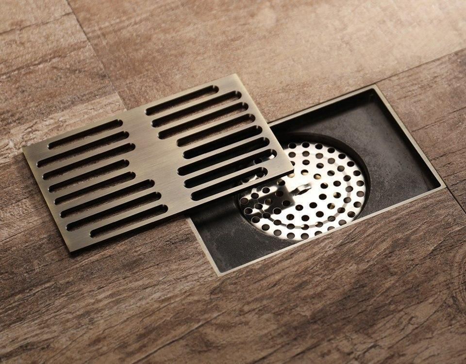 Antique Bronze Rectangular Floor Drain Cover In 2020 Floor Drains Drain Cover Cottage Style Bathrooms