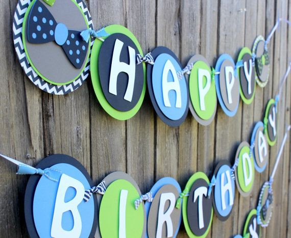 Happy Birthday Images For Men ~ Little man happy birthday banner bow tie by sparklingconfetti