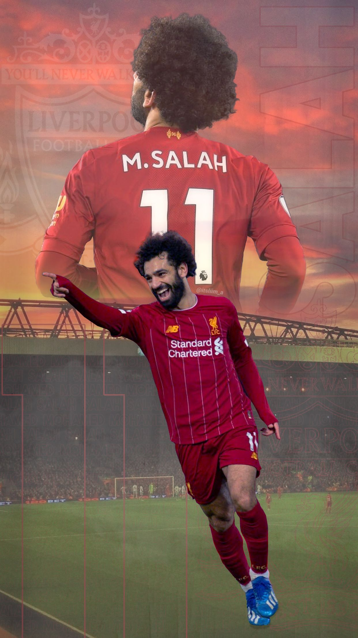 Canvas Picture Mohamed Salah Liverpool Fc Football Player Large Poster