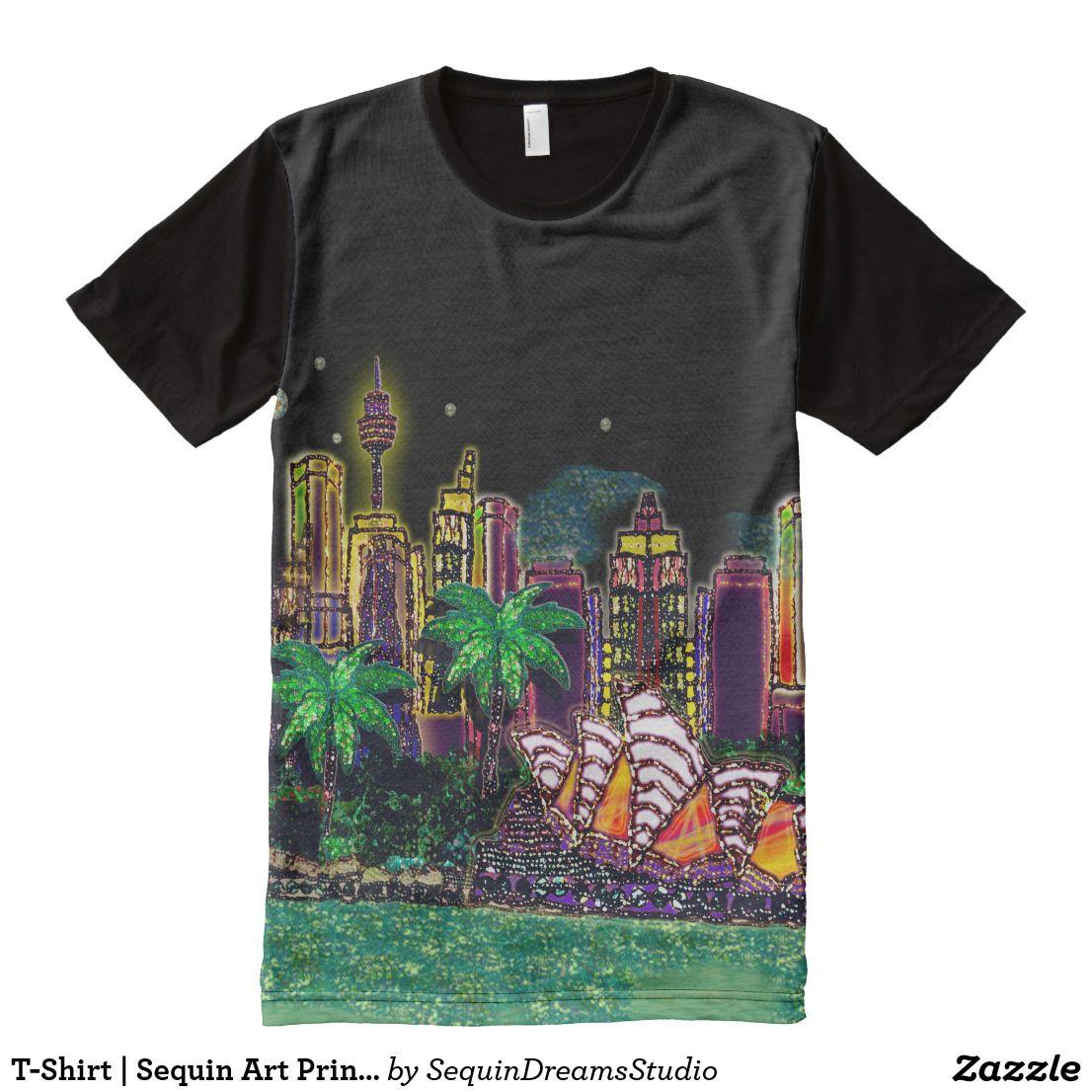 T Shirt Sequin Art Print Sydney Australia Sydney Australia