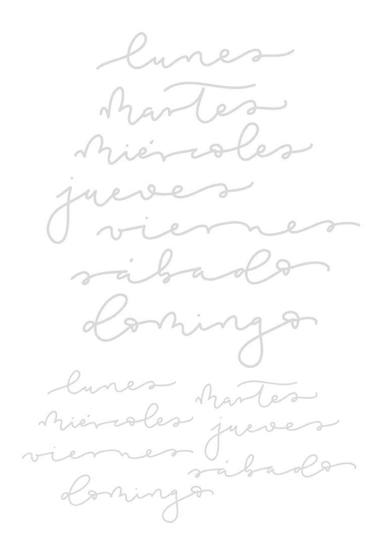 Plantillas De Lettering Los Dias De La Semana Plantillas De