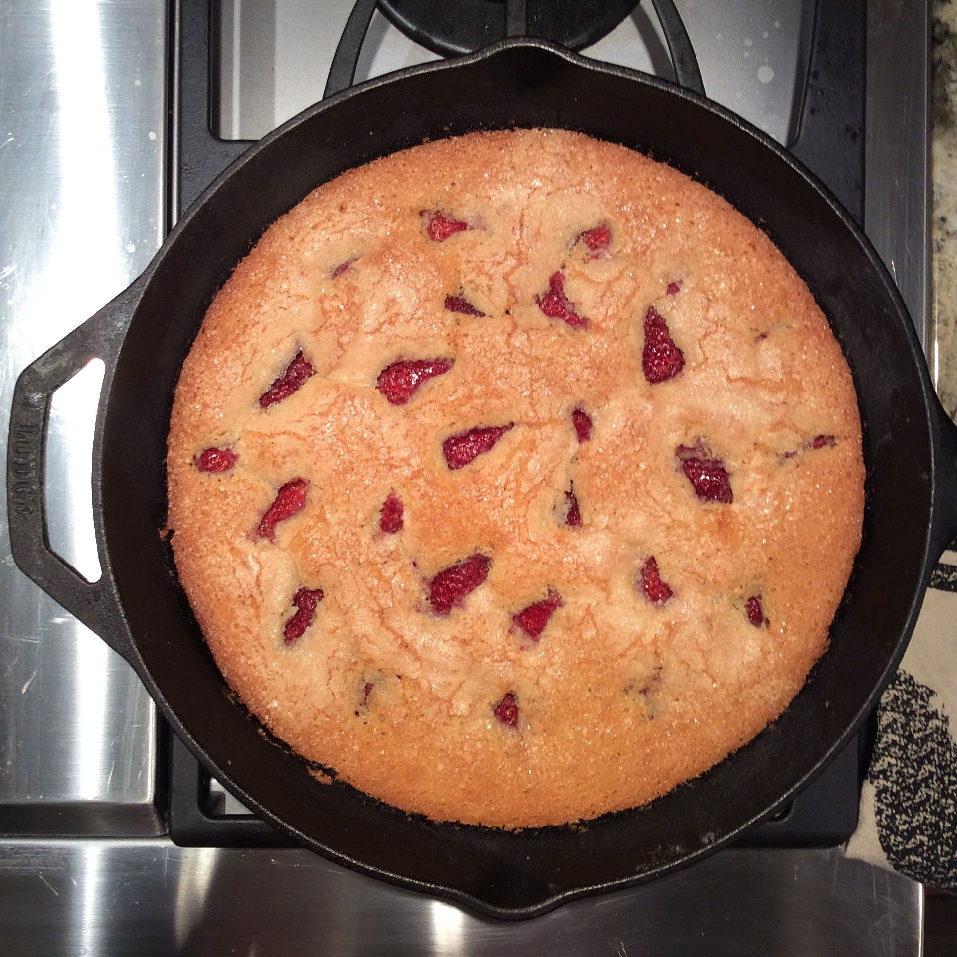 Strawberry Orange Skillet Cake