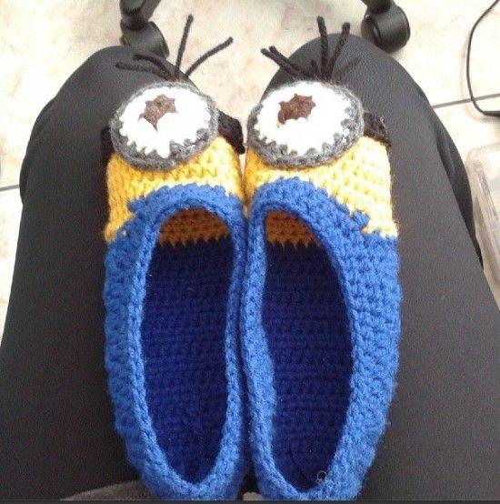 Crochet Minion Booties Pattern Is One Of Many Free Crochet