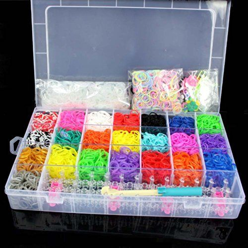 5600 Colourful Rainbow Rubber Loom Bands Bracelet Making Kit Set With S Clips By Catalina