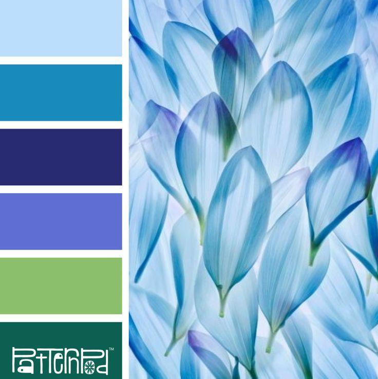 Farbpaletten Blau: Farbkombinationen