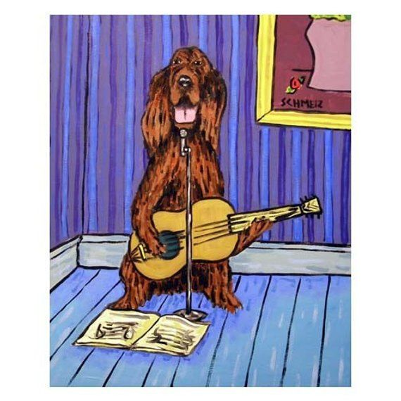 gordon setter dog reproduction of painting 8x10  art artist PRINT animals