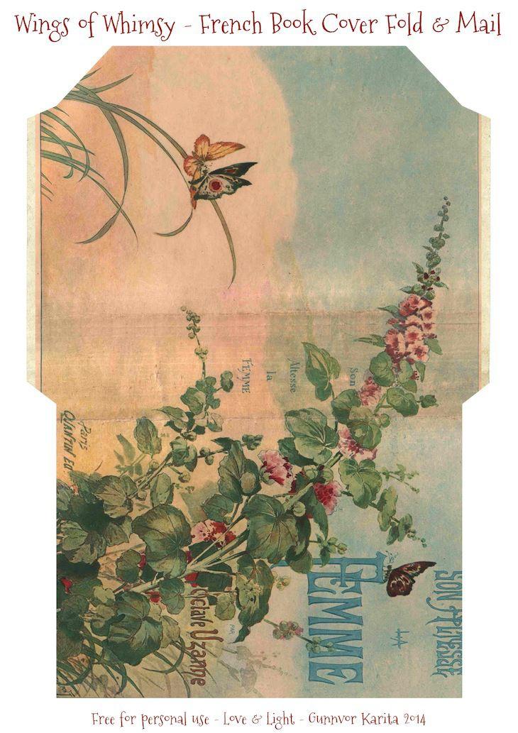 french book cover fold mail stationery craft paper envelopes stationery vintage. Black Bedroom Furniture Sets. Home Design Ideas