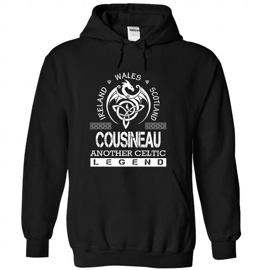 COUSINEAU - Surname, Last Name Tshirts - #thoughtful gift #day gift. GET YOURS => https://www.sunfrog.com/Names/COUSINEAU--Surname-Last-Name-Tshirts-apwovdefgb-Black-Hoodie.html?68278