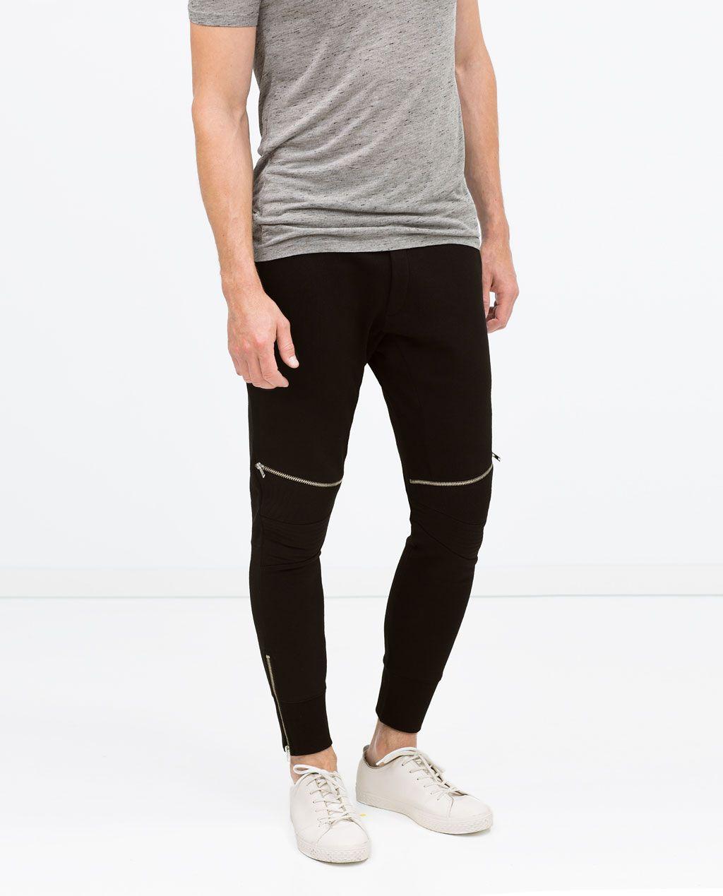 ZARA - MAN - BIKER TROUSERS | Pantalones, Pantalon hombre ...
