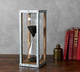 Galvanised Hourglass Decorative Pottery Pottery Barn Decor