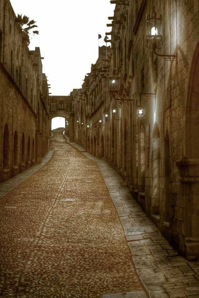 Strret of the Knights! Rhodes Greece