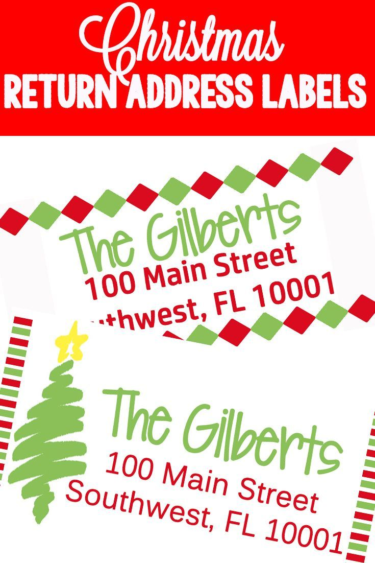 christmas themed return address labels the ultimate pinterest