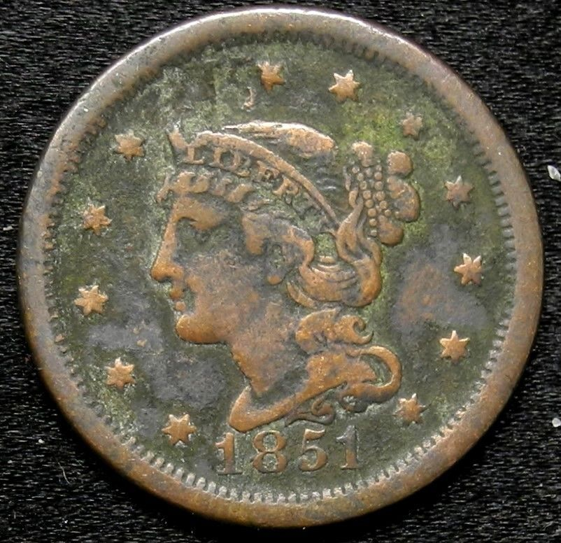 1851 Liberty Head Large Cent One Penny Key Date Better Grade 1c Key Dates Penny Coin Collecting