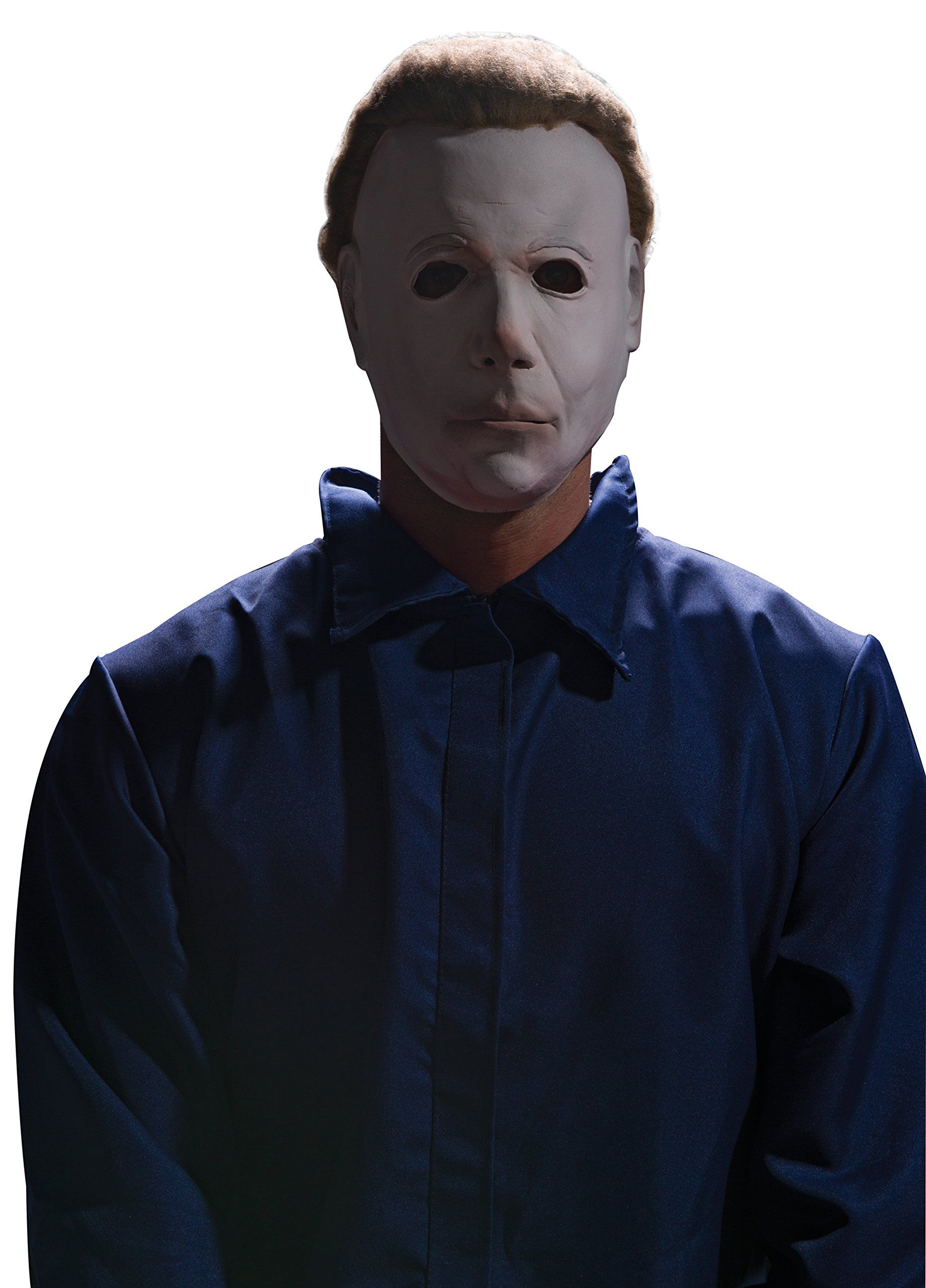 Rubies Halloween Movie Michael Myers Mask With Wig White