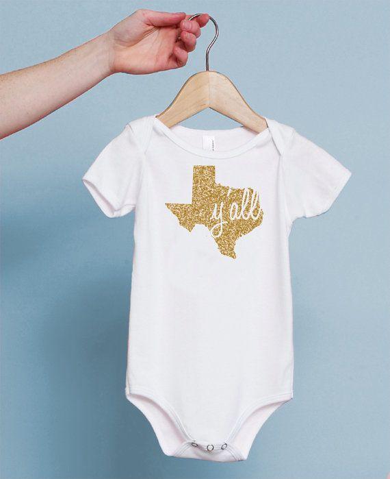 Texas Bodysuit; Texas Silhouette Bodysuit; Texas Shape Bodysuit; Texas Outfit for Baby Girl