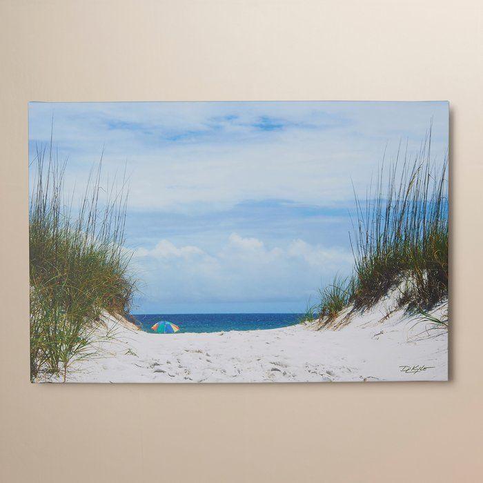 Ocean Path Photo Graphic Print On Canvas Ocean Wall Art