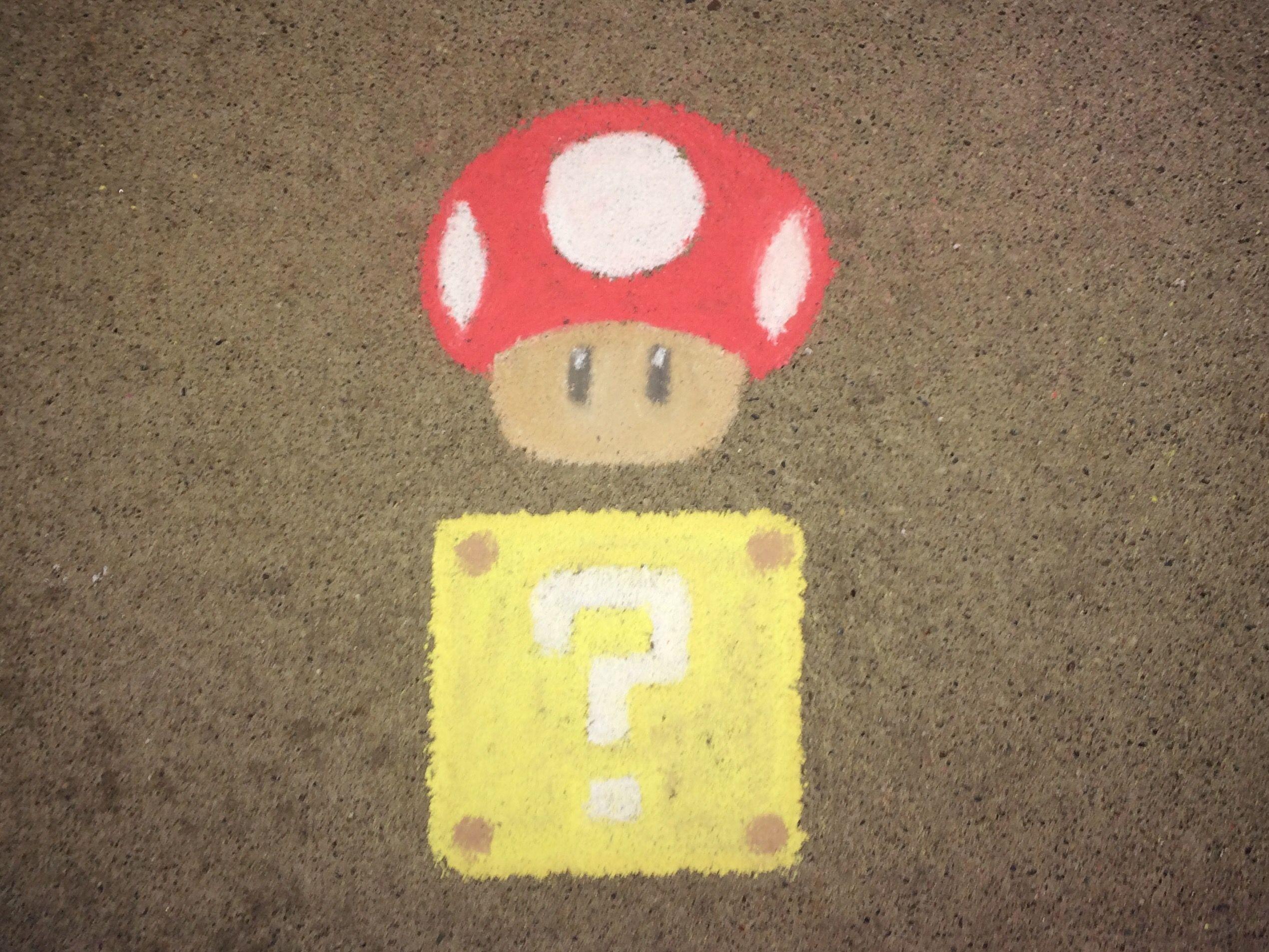 easy mario mushroom drawing