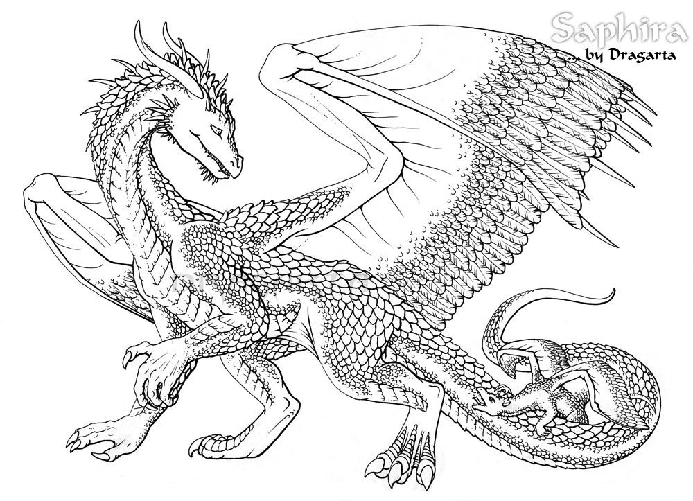 Chinese Dragon Coloring Pages Free