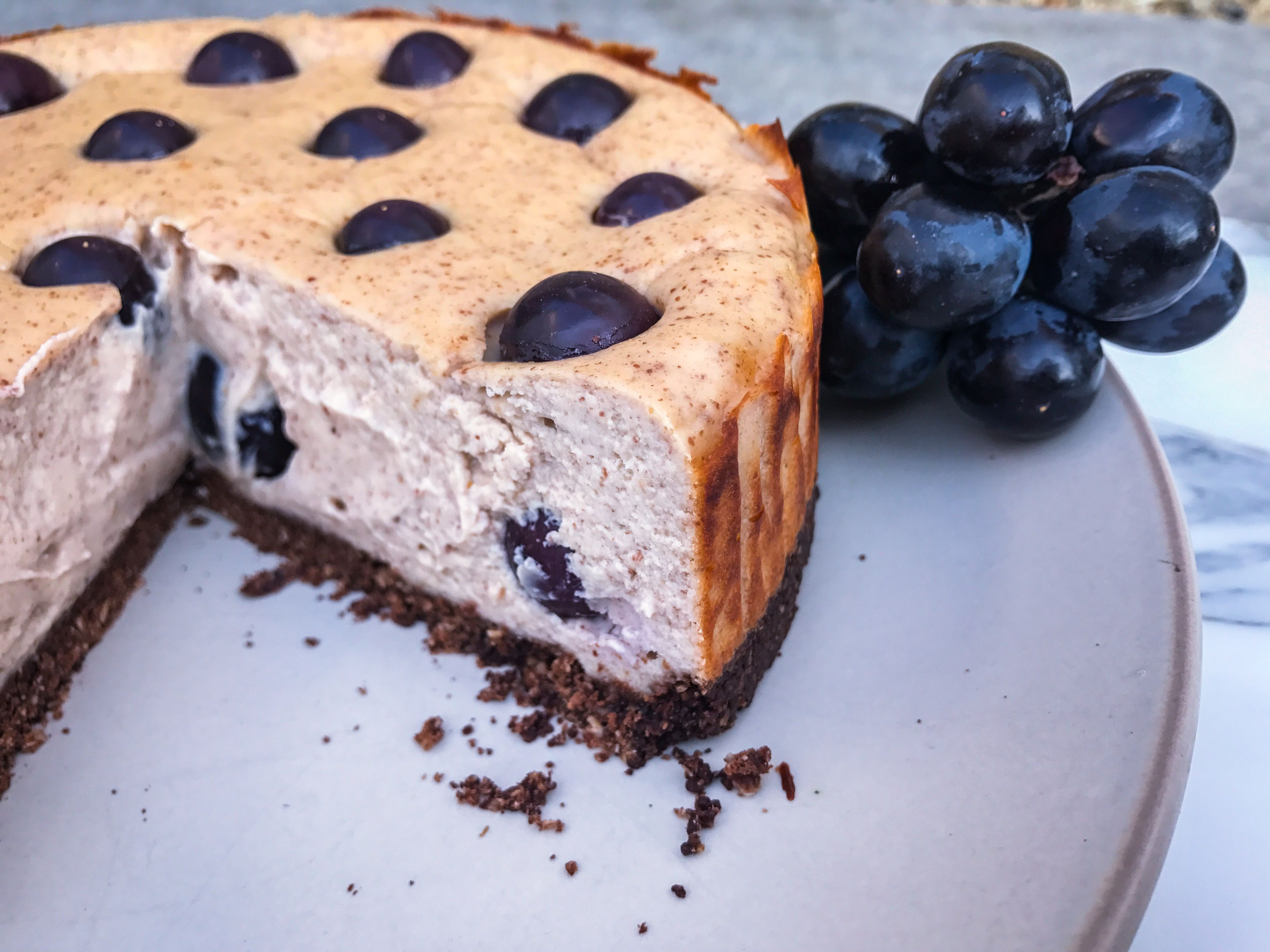 Protein Grape and Peanut Butter Cheesecake Protein