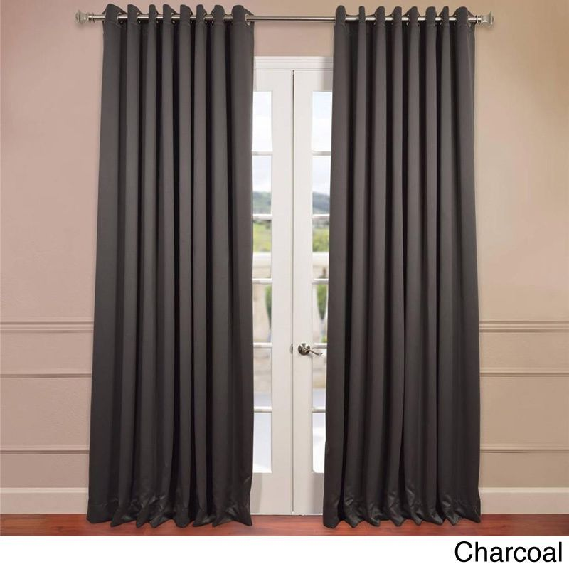Exclusive Fabrics Extra Wide Thermal Blackout Grommet Top 84 Inch