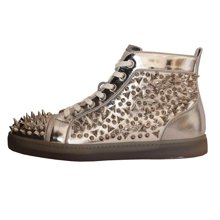Christian Louboutin Mens Studded Sneakers 44 | Studded