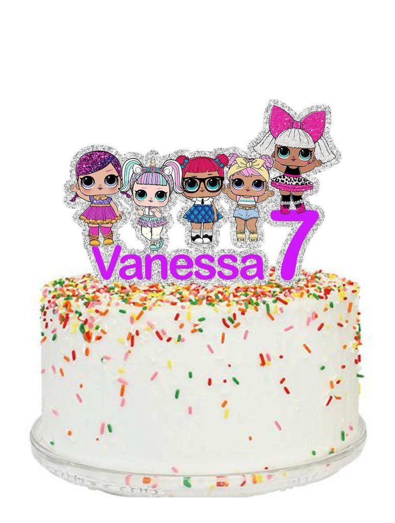 Lol Surprise Dolls Cake Topper Doll Cake Topper Funny Birthday Cakes Doll Cake