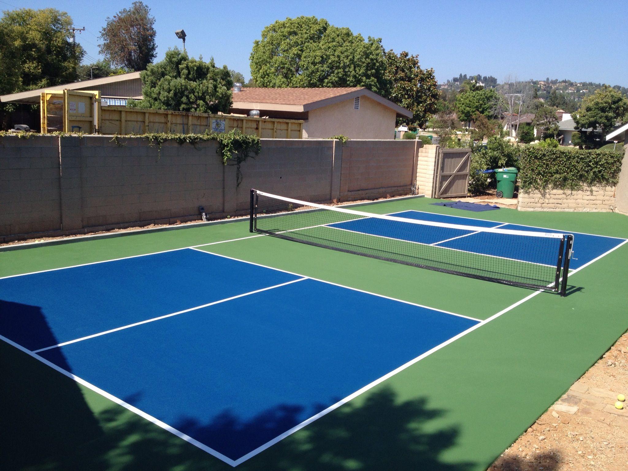 Private Backyard Pickleball Court Pickleball Court Tennis Court Pickleball Mini backyard tennis court