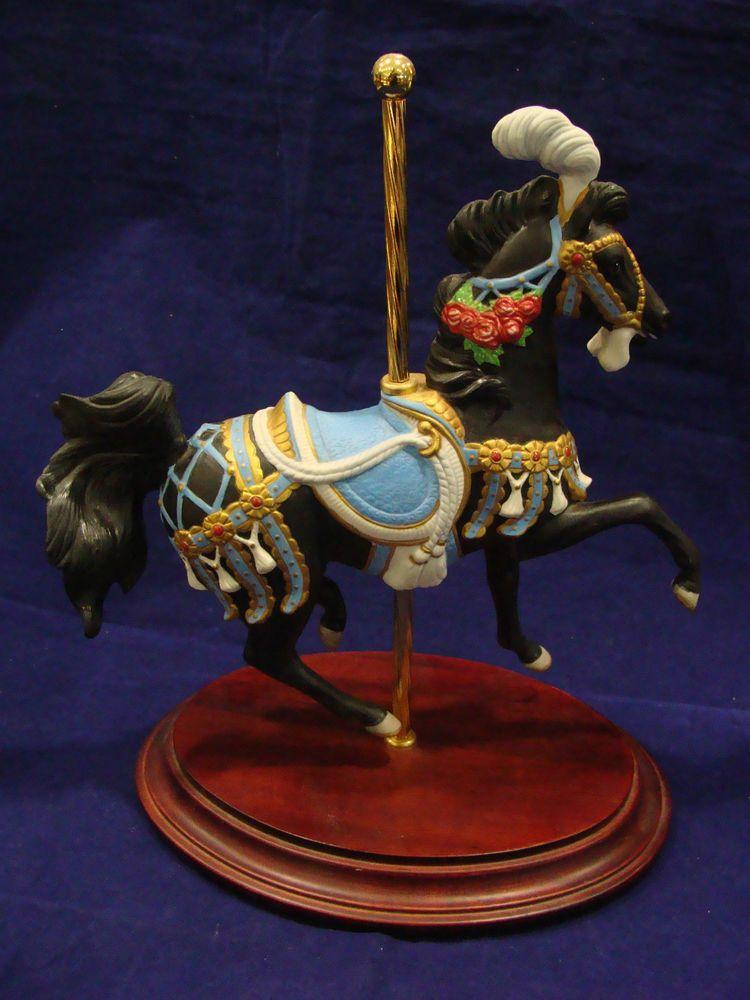 """FRANKLIN MINT LYNN LUPETTI """"ROYAL SPLENDOR"""" CAROUSEL HORSE 1991 #franklinmint #royalsplendor #carouselhorse #horse #1991 #porcelain"""