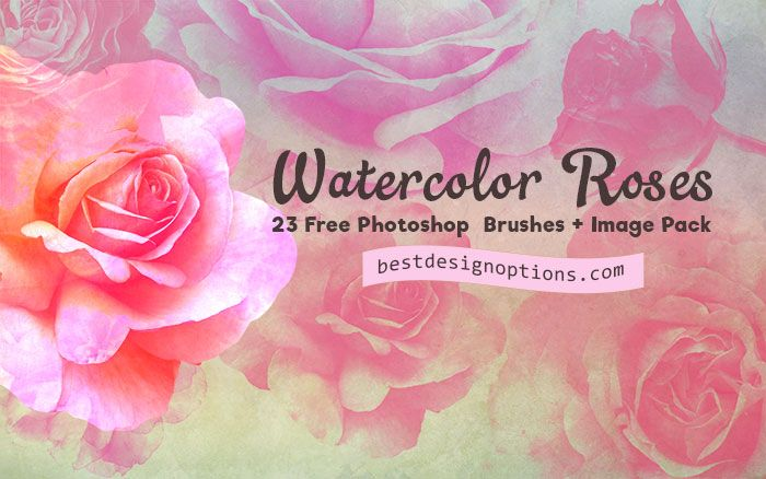 There are 23 rose Photoshop brushes for making greeting cards and