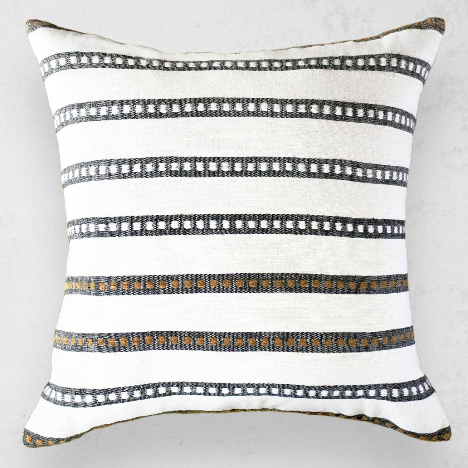 We had a bit of fun with the design of this pillow the black and