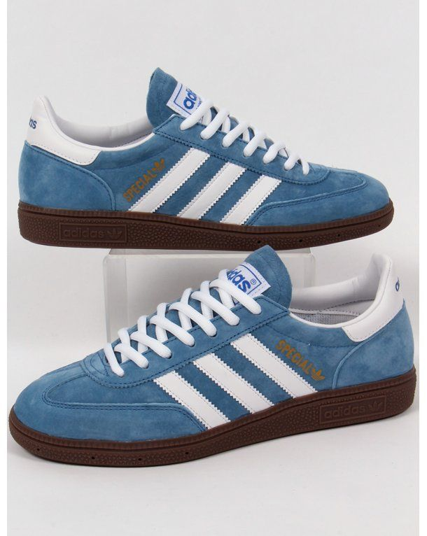 UK Shoes MENS ADIDAS SPEZIAL NAVY SUEDE CLASSIC RETRO LACE UP SPORTS TRAINERS UK SIZE 9 Blues