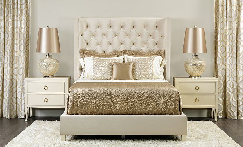 Gold and cream bedroom | Glamourous Home | Pinterest ...