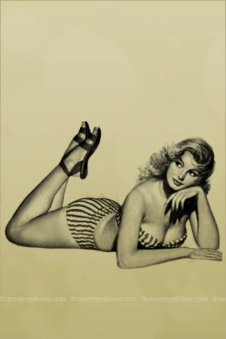 Vintage Pin Up Girls 3g Ipod Touch Wallpapers Backgrounds