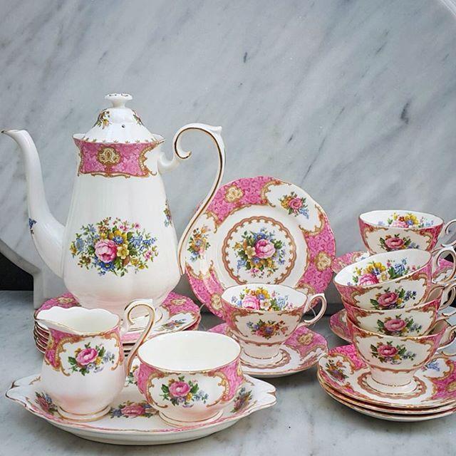 Vintage Coffee Set By Royal Albert