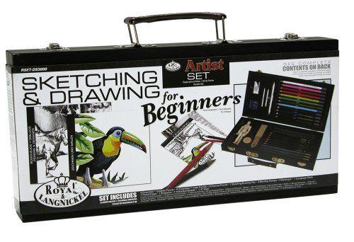 Royal and Langnickel Beginners Sketching and Drawing Art Set /& Beginners Guide