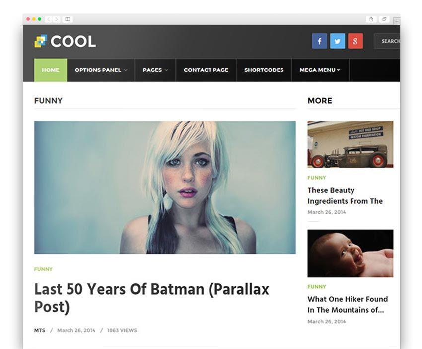 Cool WordPress Blog Theme | Best WordPress Themes | Pinterest ...