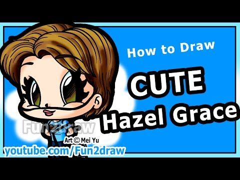How To Draw People Hazel Grace The Fault In Our Stars Shailene Woodley Fun2draw Chibi Fun2draw Drawing People Grace Art