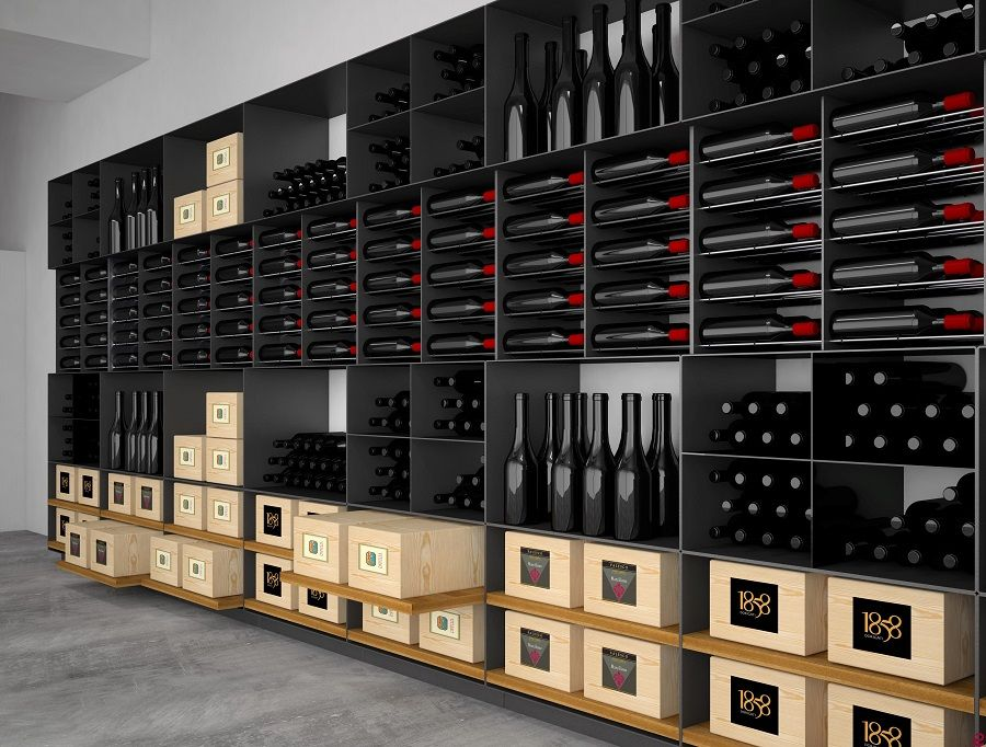 Arredamento Cantina ~ Arredamento #cantina #vini esigo con #portabottiglie di #design