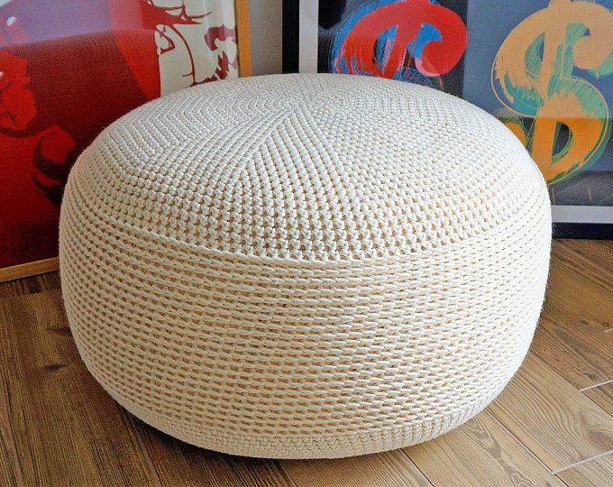 pouf pouf ottoman repose pieds home decor oreiller bean bag coussin de sol sol bouff e de. Black Bedroom Furniture Sets. Home Design Ideas
