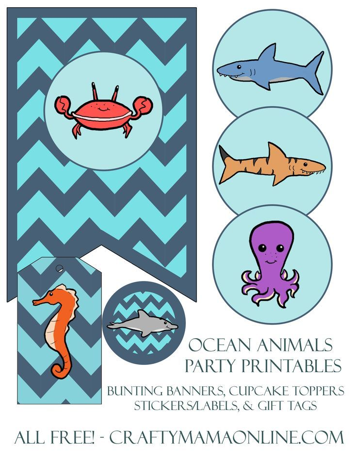 Free Printable Sea Creatures