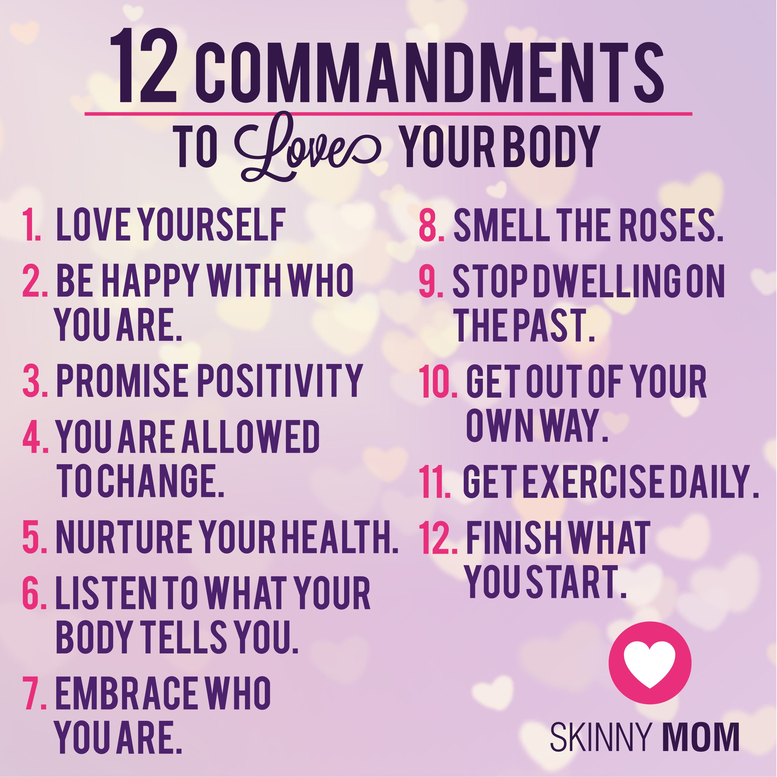 Love Your Body Quotes Magnificent 12 Commandments To Love Your Body  Pinterest  Quote Citation And